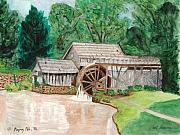 Mabry Mill Paintings - Mabry Mill  Virginia by Carol Komassa