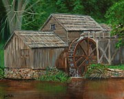 Mabry Paintings - MabryMill by Jana Baker