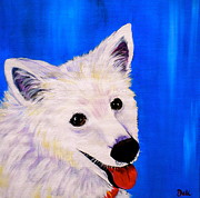 Panting Dog Prints - Mac Print by Debi Pople