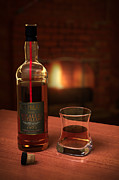 Fire Photo Prints - Macallan 1973 Print by Adam Romanowicz