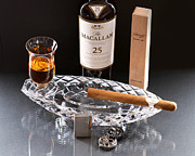 Moon Time Photo - Macallan 25 And Cigar