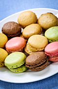Colors Art - Macaroon cookies by Elena Elisseeva