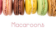 Background White Framed Prints - Macaroons isolated Framed Print by Jane Rix
