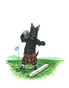 Scottie Paintings - MacDuff and the Olympics by Margaryta Yermolayeva