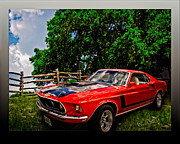 Mach One Mustang 1969 Print by Chas Sinklier