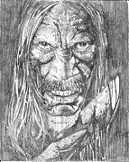 Action Drawings Originals - Machete by Christopher Torres