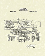 Weapon Drawings Posters - Machine Rifle 1919 Patent Art Poster by Prior Art Design