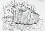 Shed Drawings Framed Prints - Machine Shed Stand Framed Print by Jack G  Brauer