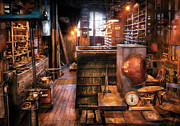 Desk Prints - Machinist - Eds Stock Room Print by Mike Savad