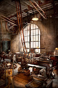 Machinist Framed Prints - Machinist - I like big tools Framed Print by Mike Savad