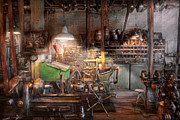 Old Mill Scenes Photos - Machinist - It all starts with a Journeyman  by Mike Savad