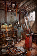 Cave Framed Prints - Machinist - The modern workshop  Framed Print by Mike Savad