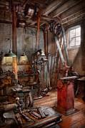 Machinist - The Modern Workshop  Print by Mike Savad