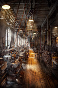Old Time Prints - Machinist - Welcome to the workshop Print by Mike Savad