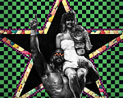 Superstar Metal Prints - Macho Madness Metal Print by Ryan Jones