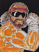 Hulk Painting Framed Prints - Macho Man Randy Savage Framed Print by Matt Molleur