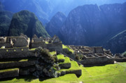 Wonder Of The World Prints - Machu Picchu and Urubamba Canyon Print by James Brunker