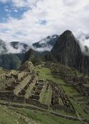 Hillsides Photos - Machu Picchu by Chris Caldicott