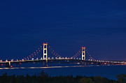 Support Framed Prints - Mackinac Bridge - D002813 Framed Print by Daniel Dempster