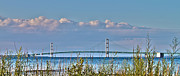 Mackinac Bridge Prints - Mackinac Bridge Print by Jack Schultz