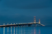 Mackinac Bridge Prints - Mackinac Bridge Print by Sebastian Musial