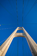 Michigan Art - Mackinac Bridge South Tower by Steve Gadomski