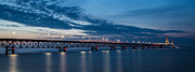 Mackinac Bridge Prints - Mackinac Bridge Sunset Print by John McGraw