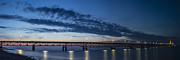 Mackinac Bridge Prints - Mackinac Bridge Sunset Panoramic  Print by John McGraw