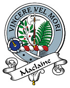 Maclaine Posters - Maclaine of Lochbuie Clan Badge Poster by Heraldry