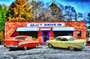 Drive In Paintings - Macs Drive In by Lynne Jenkins