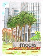 Santa Monica Paintings - Macys in Century City Mall - Beverly Hills - California by Carlos G Groppa