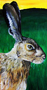 March Hare Painting Framed Prints - Mad as a March Hare Framed Print by Stacey Clarke