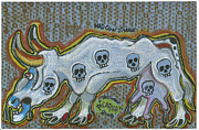 Criticism Painting Prints - Mad Cow Disease Print by  Picarson