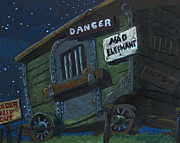 Danger Drawings Framed Prints - Mad Elephant Framed Print by Joseph Hawkins