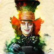 Mad Hatter Digital Art Prints - Mad Hatter Print by April Gann