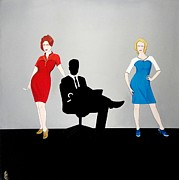 John Lyes Posters - Mad Men in Technicolor Poster by John Lyes