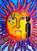 Rays Paintings - Mad SUN by Ana Julia Fishman
