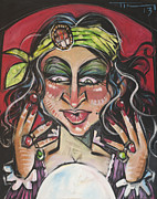 Circus. Paintings - Madame Fortunae by Tim Nyberg