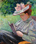 Concentrating Posters - Madame Guillaumin Poster by Jean Baptiste Armand Guillaumin