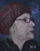 Heads Paintings - Madame Louise by Reb Frost