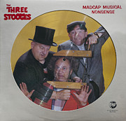 Television Stars Prints - Madcap Musical Nonsense Print by Official Three Stooges
