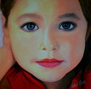 Head Shot Painting Prints - Maddie Print by Shirl Theis