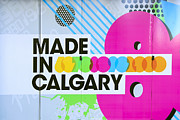 Canadian Framed Prints - Made In Calgary Framed Print by Evelina Kremsdorf