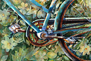 Bicycle  Art - Made in the USA by Suzy Pal Powell