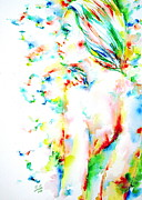 Goddess Print Prints - Made Life And Body Mirrors Of Sacred Joy Print by Fabrizio Cassetta