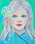 Charlotte Painting Posters - Madelyn Little Angel of Clear Vision Poster by The Art With A Heart By Charlotte Phillips