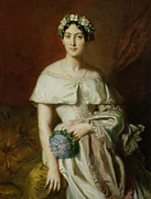 Three-quarter Length Prints - Mademoiselle Marie Therese de Cabarrus Print by Theodore Chasseriau