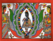 Lord Drawings Metal Prints - Madhubani 2 Metal Print by Himanshu Shrotriya