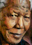President Paintings - Madiba by Dragica  Micki Fortuna