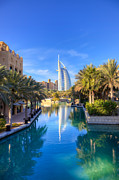 Arabia Photos - Madinat Jumeira and Burj Al Arab in Dubai by Fototrav Print